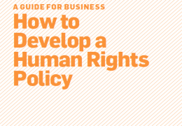 A Guide for Business: How to Develop a Human Rights Policy