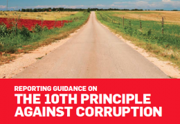 Reporting Guidance on the 10th Principle against corruption