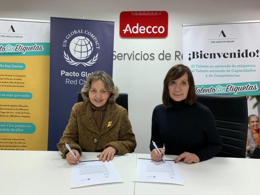 Adecco Chile firma su adherencia a Pacto Global