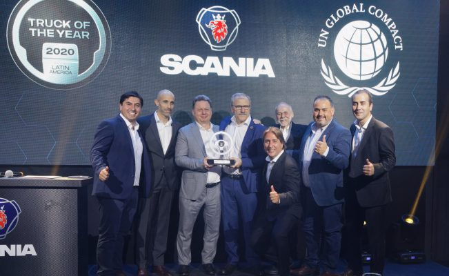 """Scania Chile adhiere a Pacto Global y recibe el premio """"Truck of the Year"""""""