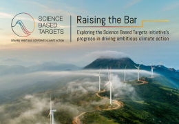 Raising the Bar: Exploring the Science Based Targets initiative's progress in driving ambitious climate action