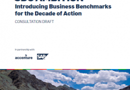 SDG AMBITION: Introducing Business Benchmarks for the Decade of Action