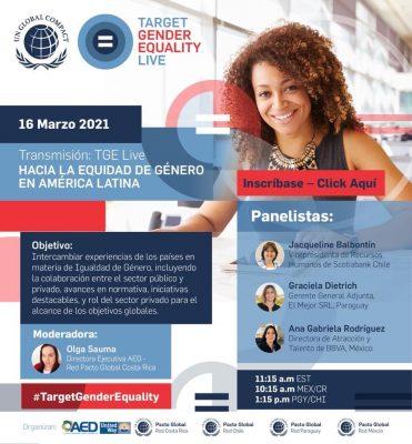 Target Gender Equality: ¡En Vivo!