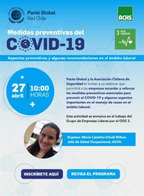 "Webinar ODS 3: ""Medidas preventivas del COVID-19"""
