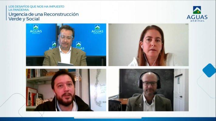 Aguas Andinas lidera conversatorio sobre reconstrucción social, económica y medioambiental en pandemia