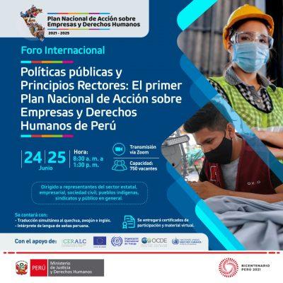 Foro Internacional: Políticas públicas y Principios Rectores